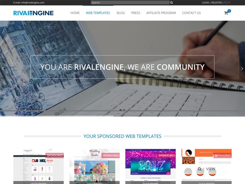 webApp CMS RivalEngine